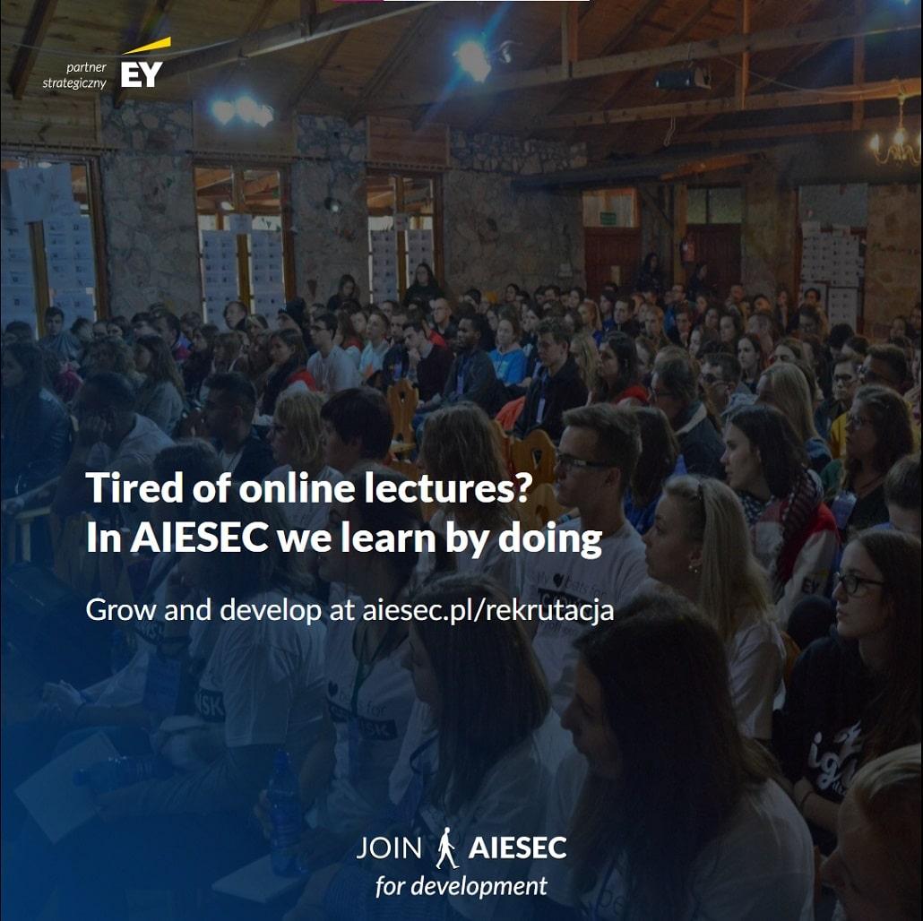 AIESEC Gdańsk - rekrutacja 2021 - plakat