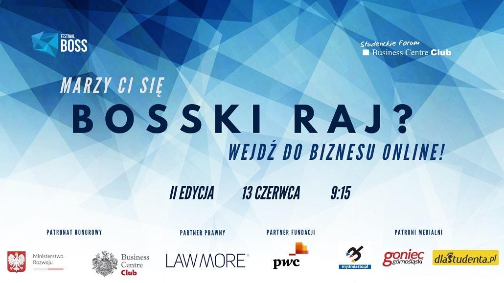 Baner informujacy o festiwalu BOSS 2020
