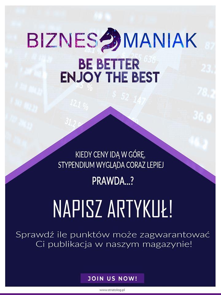 Grafika promocyjna czasopisma Biznesmaniak