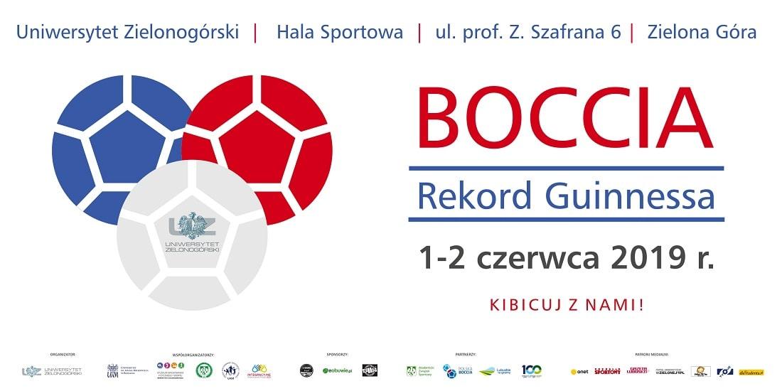 Uniwersytet Zielonogórski Boccia 2019 plakat Guiness