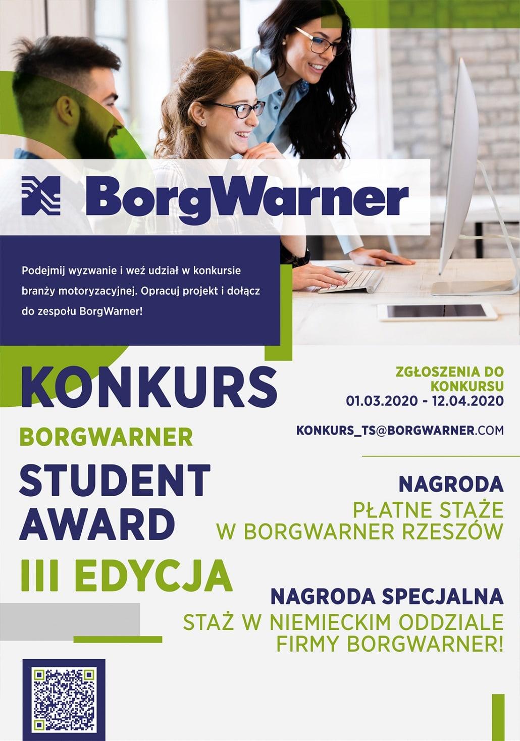 BorgWarner konkurs 2020 plakat baner