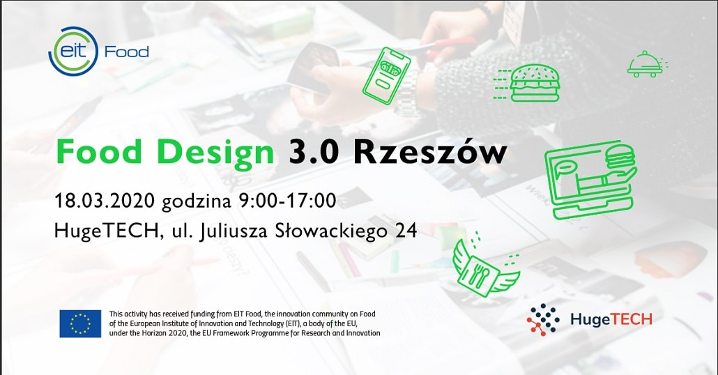 Food Design 3.0 Rzeszów 2020 plakat baner
