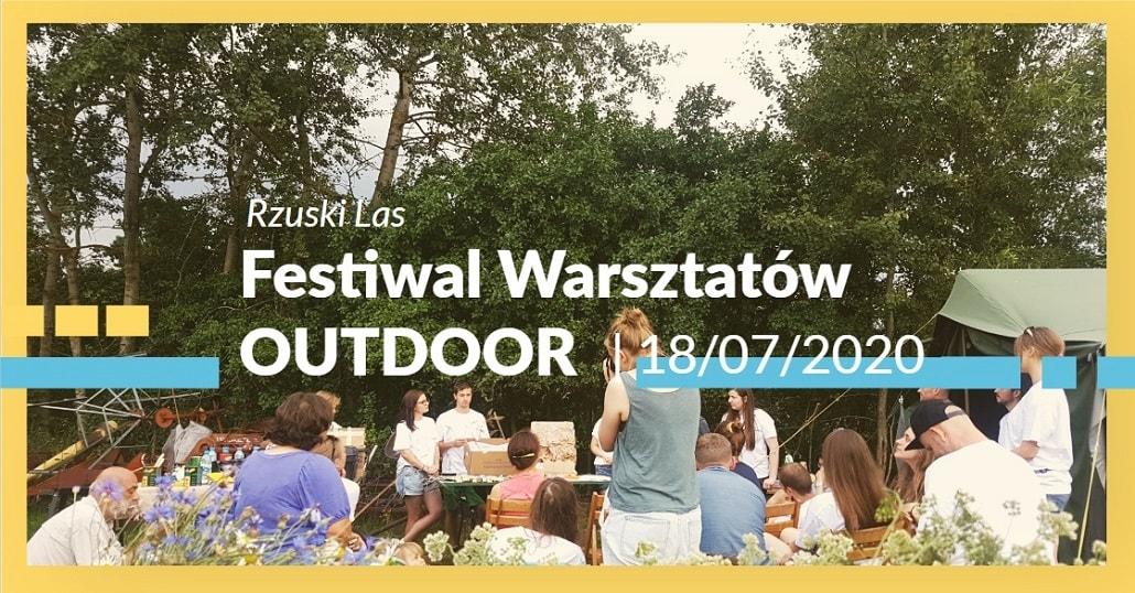Baner informujący o SPOT 2020 - Festiwal Warsztatów Outdoor