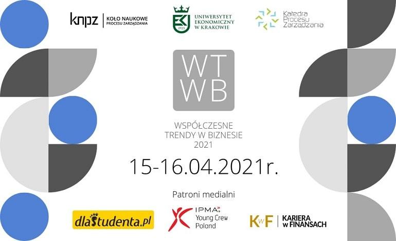 Konferencja Współczesne Trendy w Biznesie 2021 - plakat baner