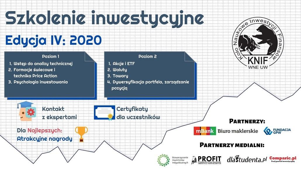 Szkolenie inwestycyjne KNIF UW i Mbanku 2020 - baner