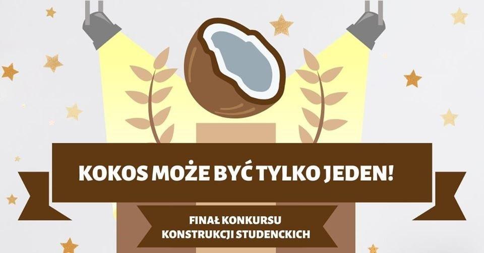 Grafika konkursu KOKOS informujaca o jego zakończeniu