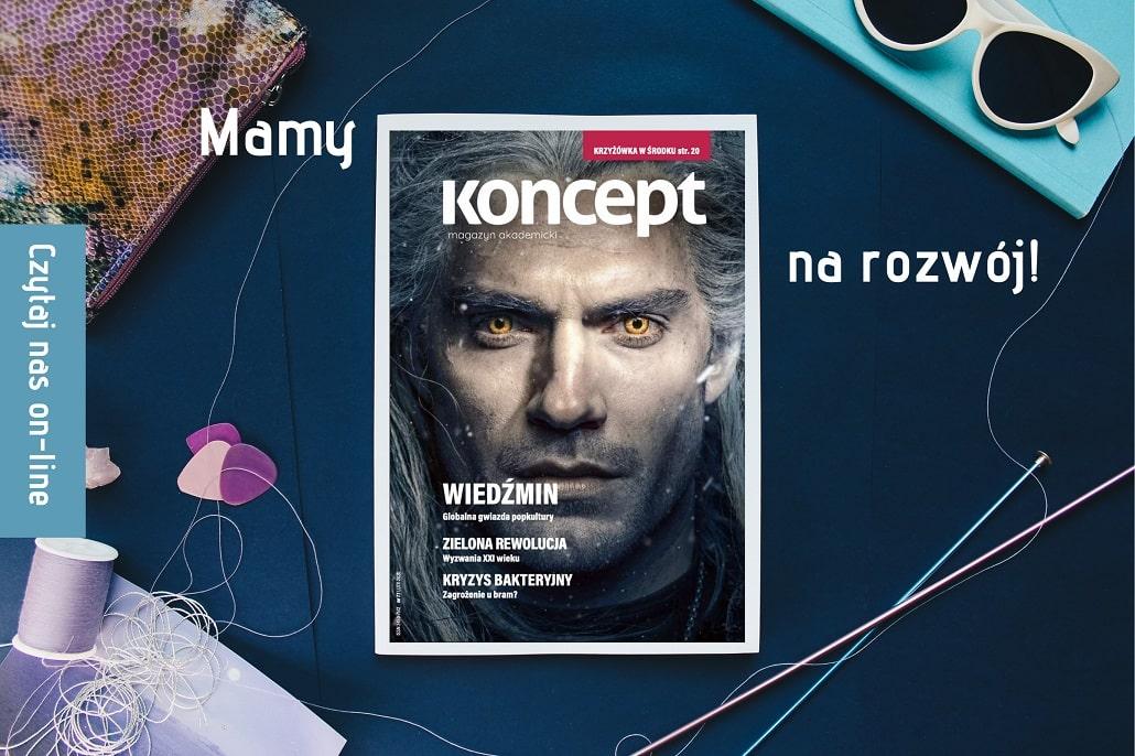 Okładka magazynu Koncept kwiecień 2020