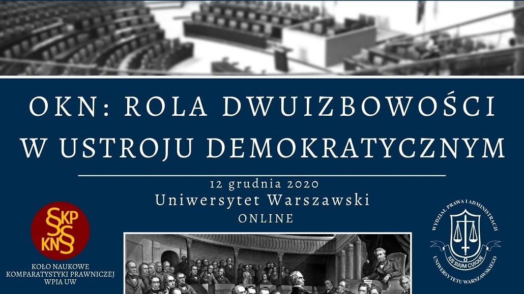 Rola dwuizbowości w ustroju demokratycznym 2020 - baner