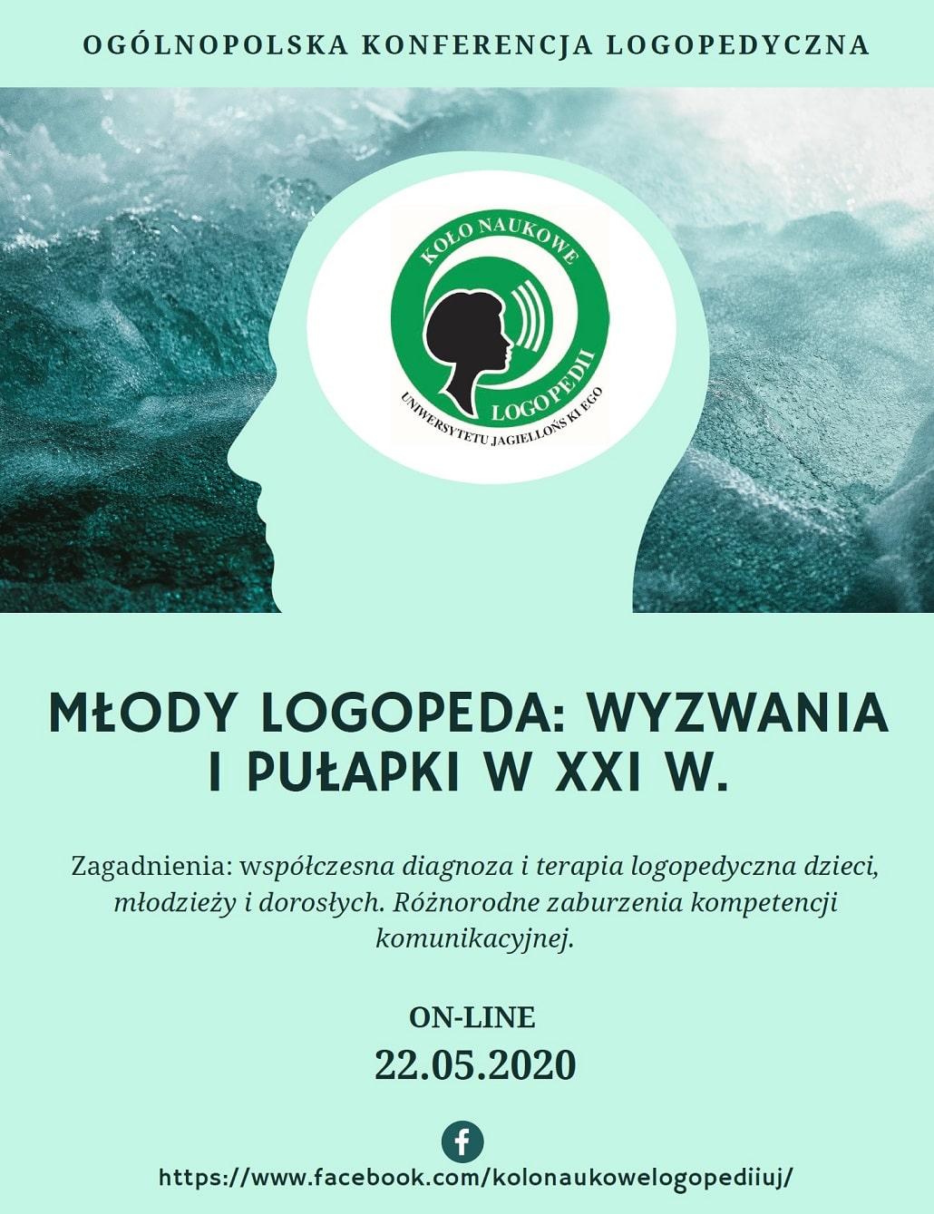 Ogólnopolska Konfernecja Logopedyczna 2020 plakat baner