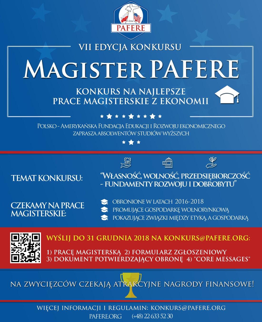 Poznaj szczegóły konkursu na najlepszą pracę magisterską!