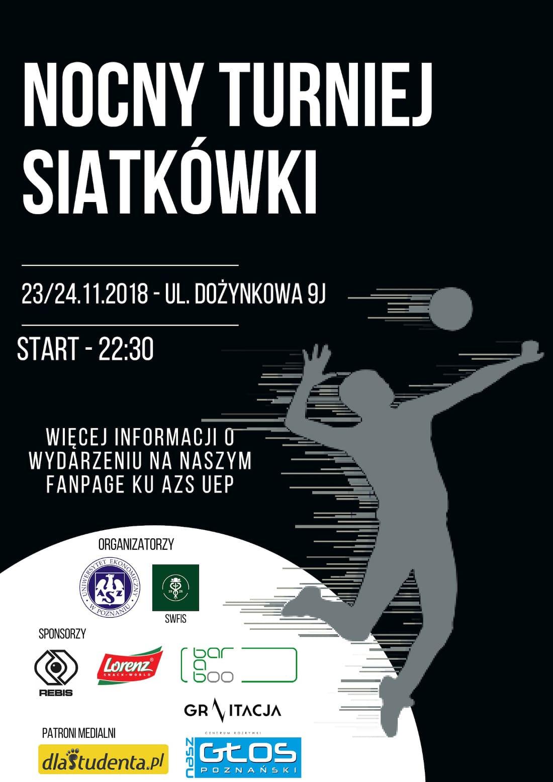 Nocny turniej odbędzie się 23 listopada 2018 roku.
