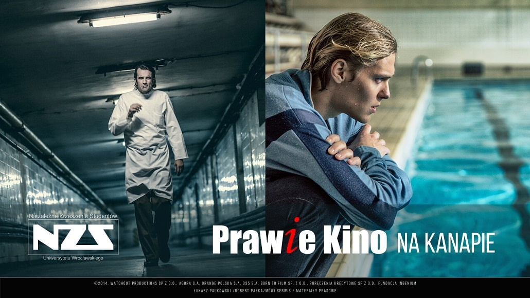 Prawie kino 2020 plakat grafika promująca baner