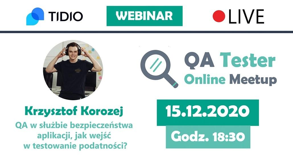 QA Tester Online Meetup #3 - plakat
