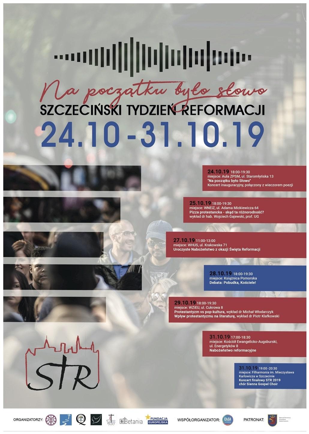 Plakat Szczecińskiego Tygodnia Reformacji 2019
