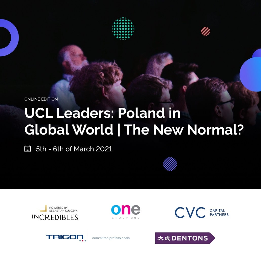 UCL Leaders: Poland in a Global World | The New Normal? - plakat baner