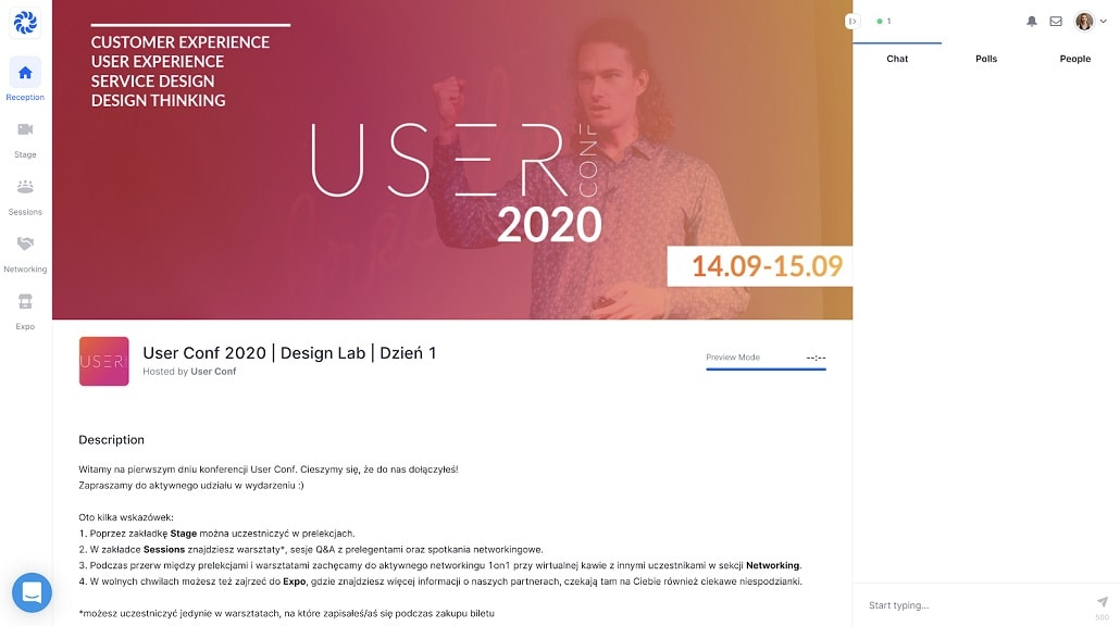 Screen z User Conf 2020 online
