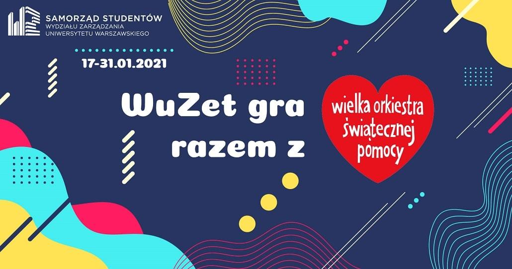 WOŚP 2021 - baner infomrujący o evencie SSWZUW