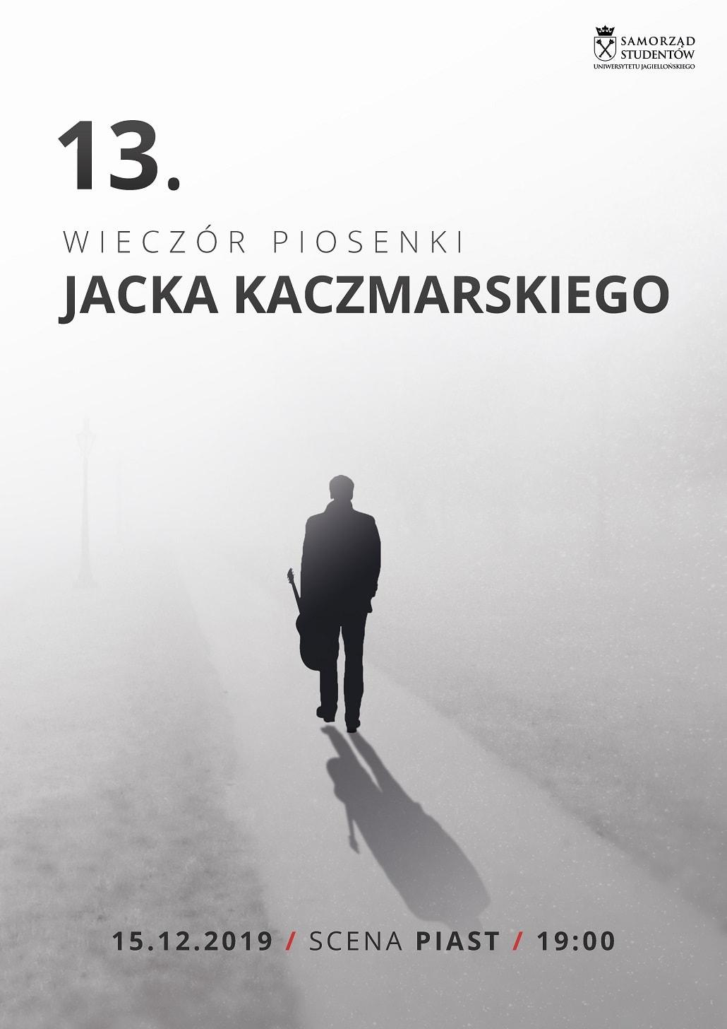 Wieczór Piosenki Jacka Kaczmarskiego 2019 plakat