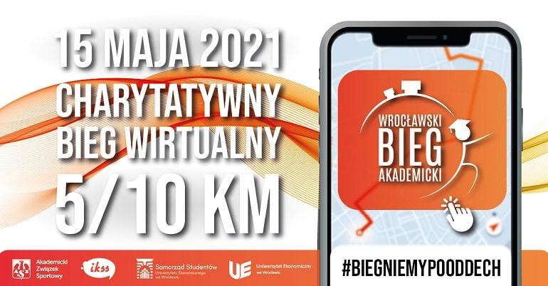 Wrocławski Bieg Akademicki 2021 - plakat / baner