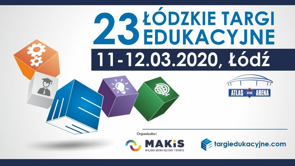23. Łódzkie Targi Edukacyjne baner plakat