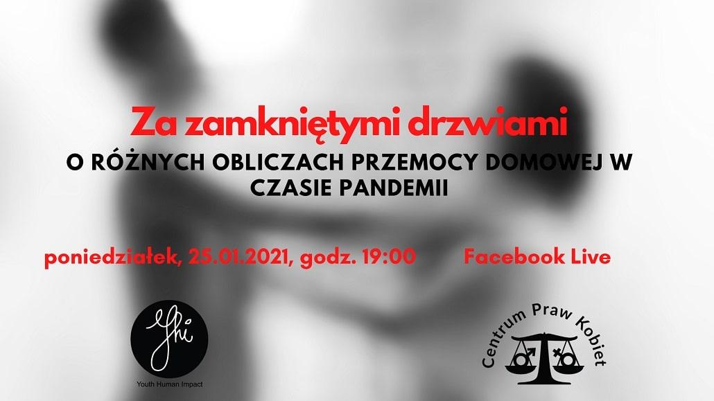 Webinar Youth Human impact o przemocy domowej - plakat
