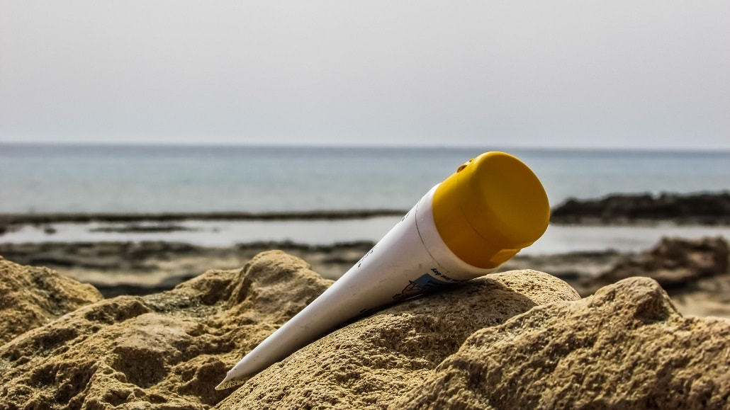 Krem z filtrem na piasku