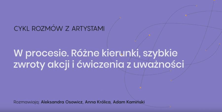 spotkanie online z Aleksandrą Osowicz