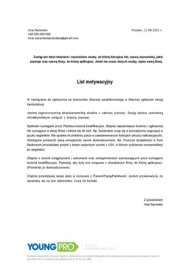Abc Listu Motywacyjnego List Motywacyjny Jak Napisać Przykład Wzór