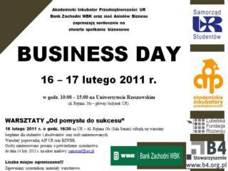 Business Day W Rzeszowie Business Day Rzeszów Uniwersytet