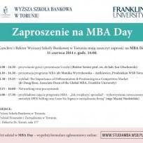 Dzień z MBA w Toruniu! - mba day toruń wsb wyższa szkoła bankowa zapisy program harmonogram