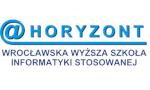 """Logo Biuro Karier Wrocławska Wyższa Szkoła Informatyki Stosowanej """"HORYZONT"""""""