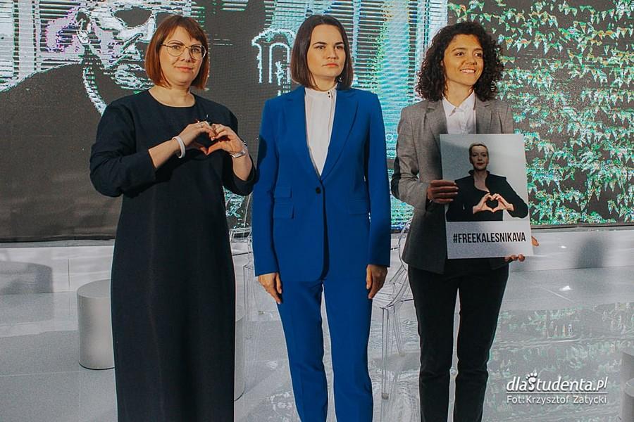 Swietłana Cichanouska, Maryja Kalesnikawa i Wołha Kawalkowa