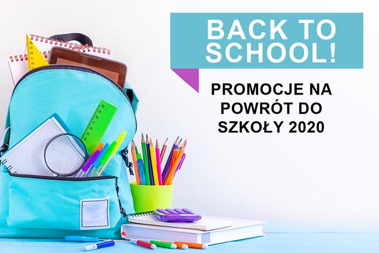 Baner infomrujący o promocjach Back to School 2020