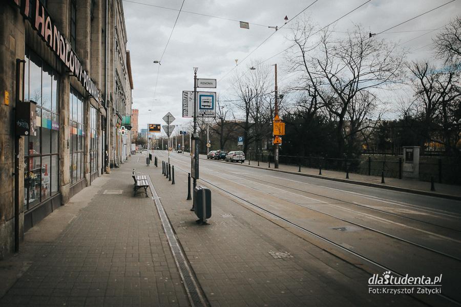 puste ulice Wrocław