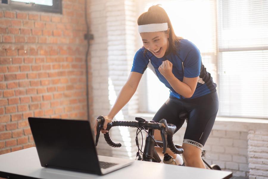 domowe cwiczenia na rowerku