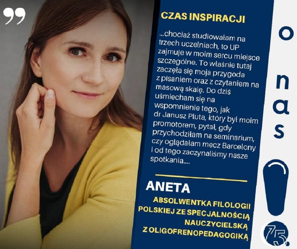 """Autorka książek, z """"niepolonistyczną pracą w tle"""" - Aneta Grabowska"""