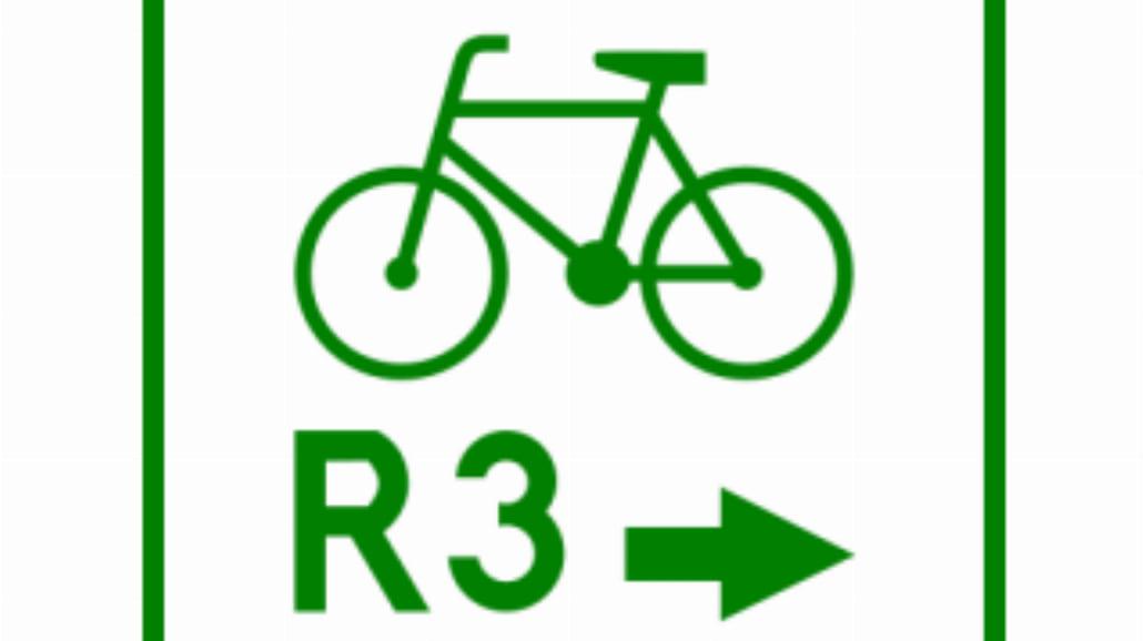 """R-2a """"zmiana kierunku szlaku rowerowego"""