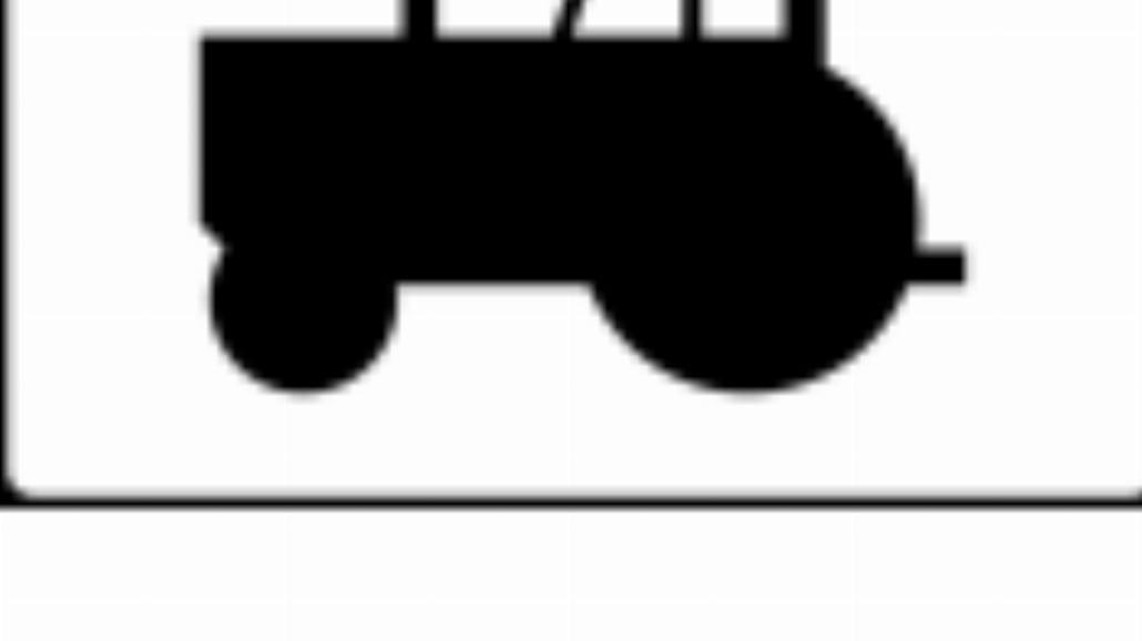 """T-23c """"tabliczka wskazująca ciągniki rolnicze i po"""