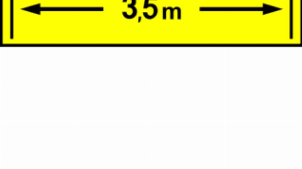 """W-6 """"szerokość mostu lub środka przeprawowego"""""""