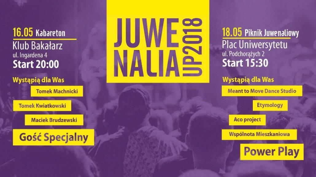 Zobacz, co bÄ™dzie siÄ™ dziaÅ'o podczas JuwenaliÃłw Uniwersytetu Pedagogicznego w Krakowie!
