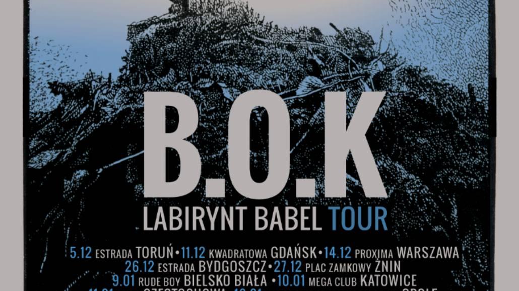 B.O.K rusza w trasę koncertową po Polsce. Zespół odwiedzi 23 miasta [BILETY, WIDEO]