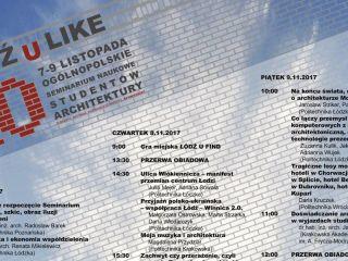 Łódź U Like 2018 - zobacz program wydarzenia! - seminarium, harmonogram, terminarz, wykłady