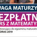 Pitagoras 2019 - kurs z matematyki dla maturzystów - poziomy, zajęcia, dla maturzystów, kurs