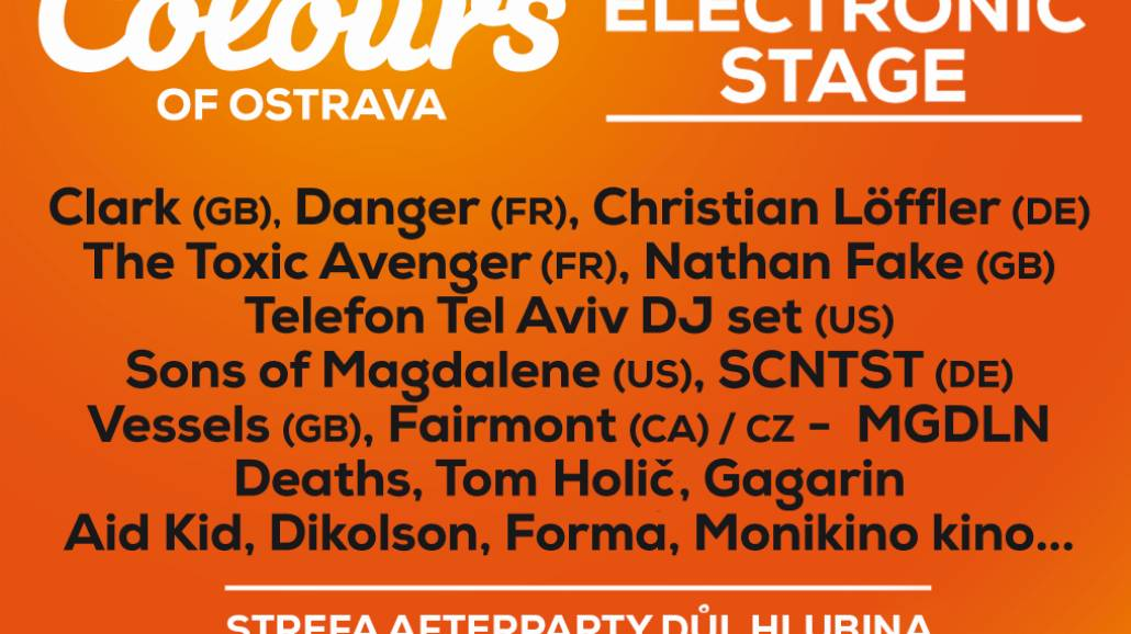 Colours of Ostrava 2015. Kto zagra na Electronic Stage? [WIDEO]