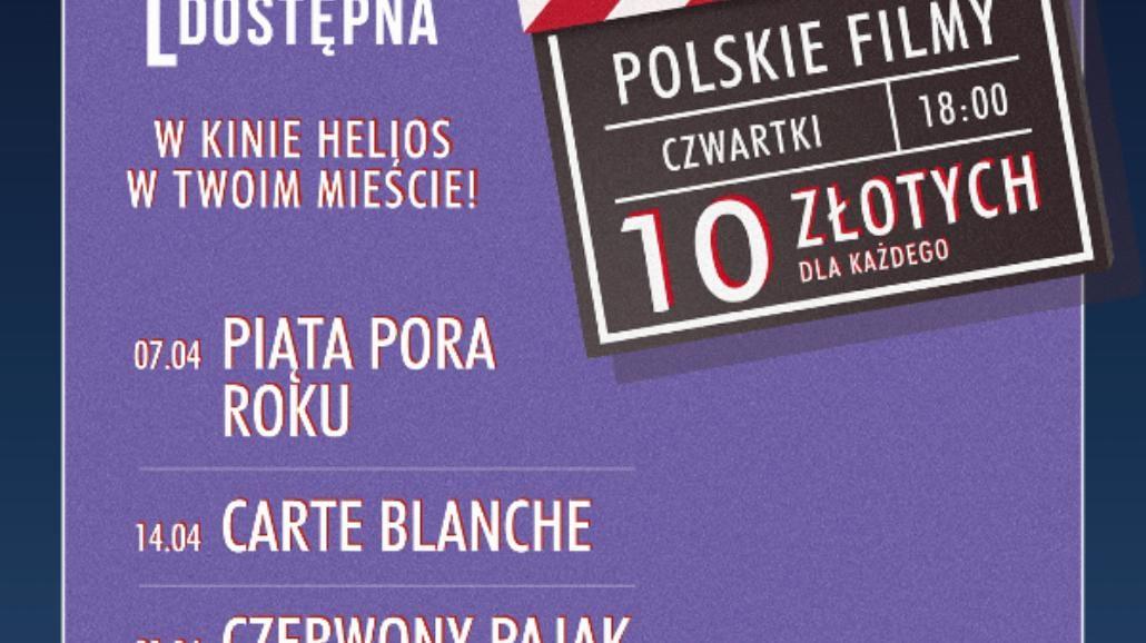 Kwietniowe filmy w Heliosie za 10zł