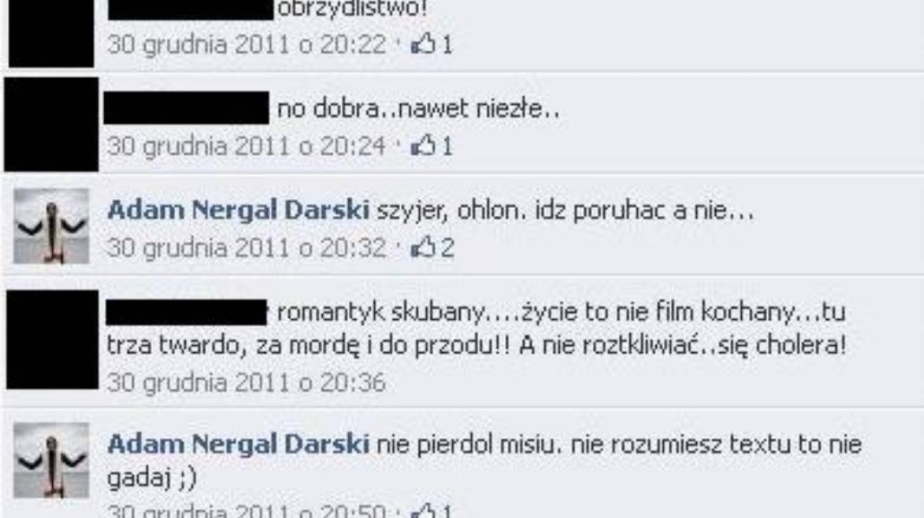 """Nergal do fana: """"Idź poru...ać"""", """"Nie pie...ol"""""""