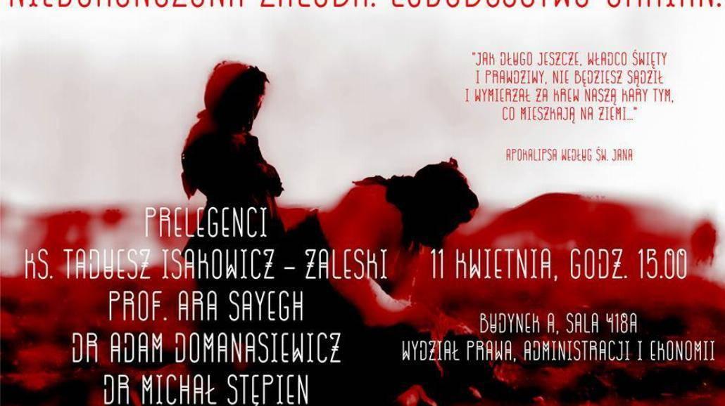 Niedokończona żałoba. Ludobójstwo Ormian - debata na WPAE