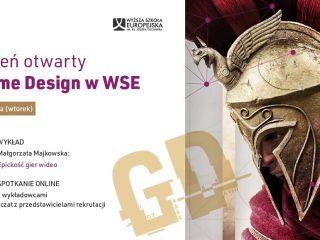 Dzień otwarty w Wyższej Szkole Europejskiej w Krakowie i wykład online nt. Game Designu - Studia dla twórców gier w Krakowie, Game Dev, Kierunki studiów Game Design, Wykład online