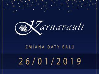 Termin Wielkiego Studenckiego Balu Karnawałowego Karnavauli uległ zmianie - śmierć Pawła Adamowicza, żałoba narodowa, pogrzeb