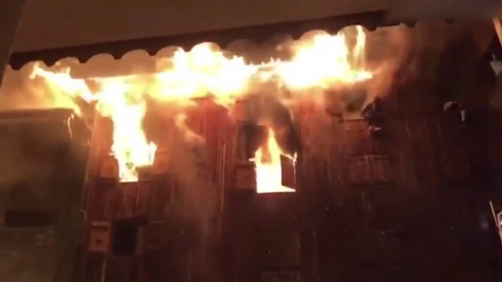 Zobacz nagranie świadka, ktÃłry widział płonący kurort narciarski we Francji!